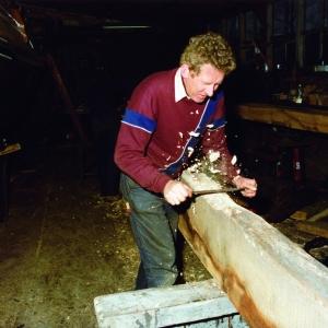 1981 - 1982 Met een haalmes de kielbalk passend maken-Johannes van der Meulen